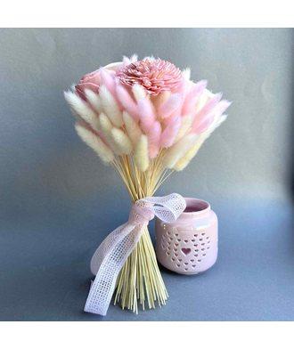 Букет «Нежное прикосновение» (стаб. цветы)