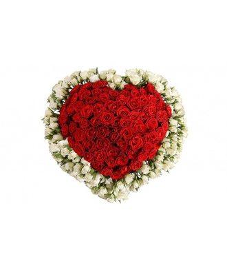 Композиция «Ажурное сердце»