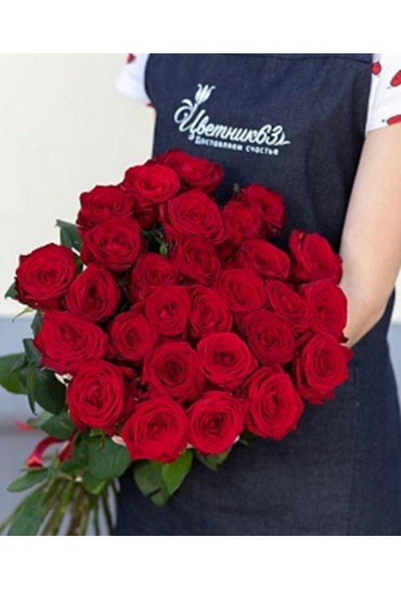 Букет из 25 роз (60 см)