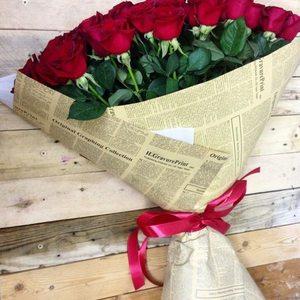 Букет из 51 розы (60 см) + крафт упаковка