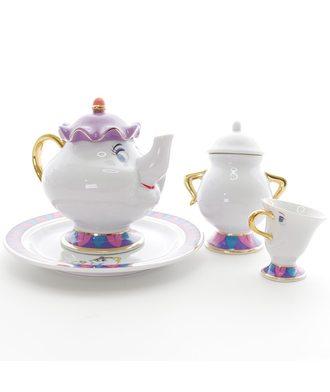 Чайный набор - «Красавица и чудовище» с тарелкой и сахарницей