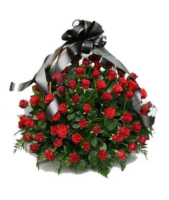 Корзина 100 роз
