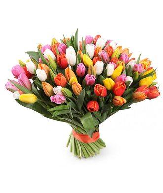 101 тюльпан «Весенний карнавал»