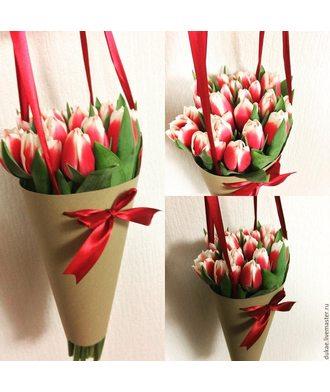 Тюльпаны в конусе (25 шт.)