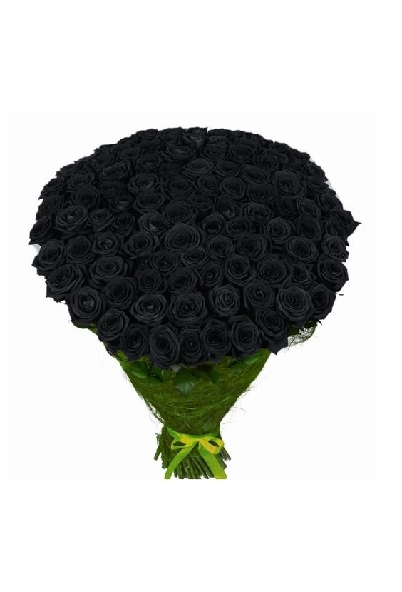 101 чёрная роза