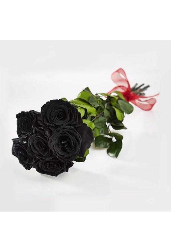 7 чёрных роз