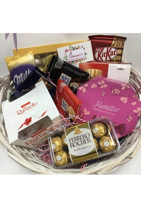 Корзина «Шоколадное удовольствие»