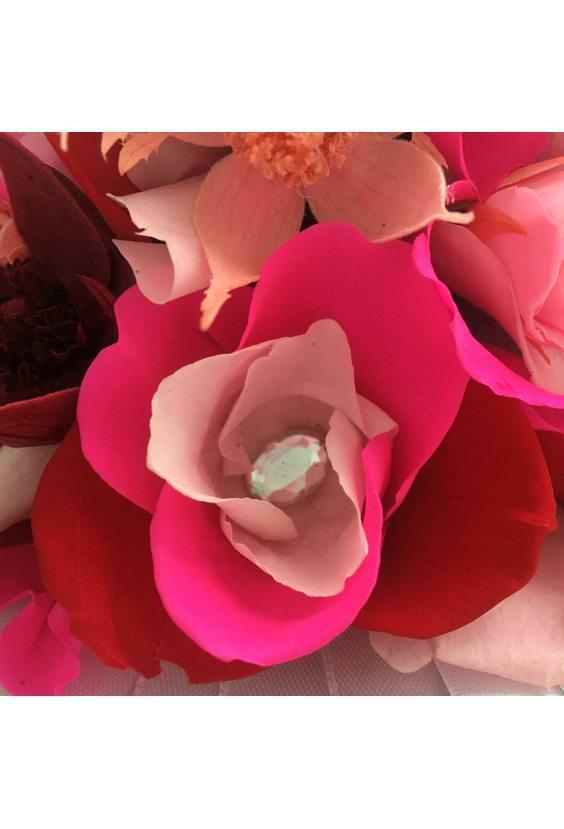 """Букет невесты """"Ягодный мусс"""" (стаб. цветы)"""
