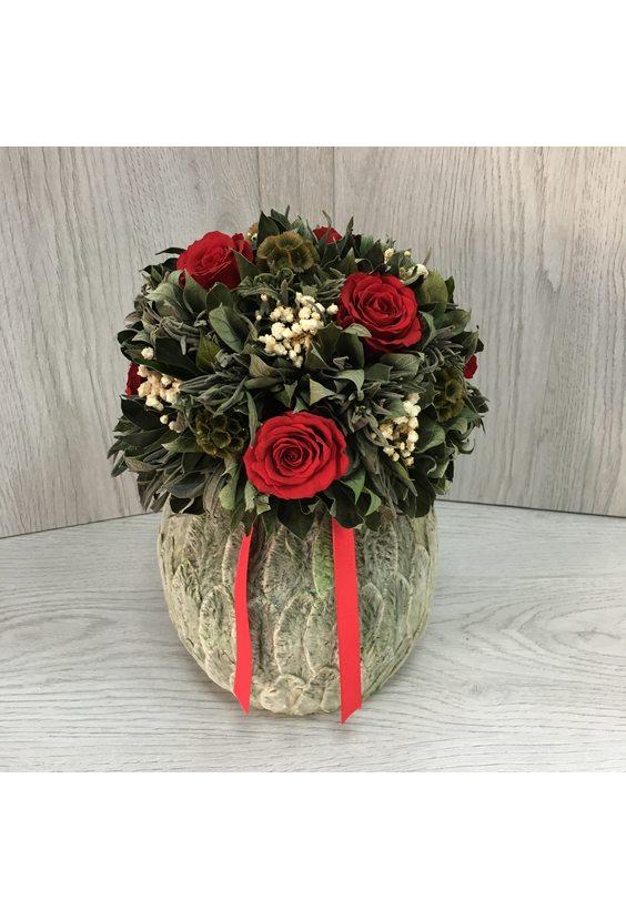 Бомбоньер 1 (стаб. цветы)