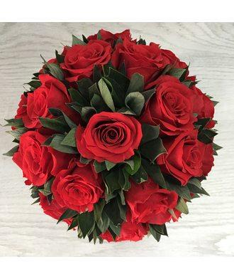 Букет из 19 роз 2 (стаб. цветы)
