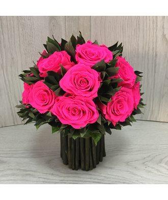 Букет из 19 роз 1 (стаб. цветы)