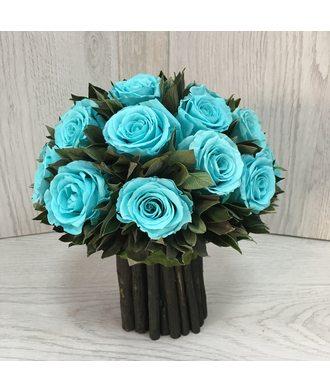 Букет из 19 роз 3 (стаб. цветы)