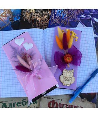 Шоколадки с букетиком