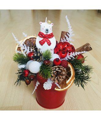 Новогодняя композиция «Мишкин лес»