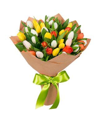 Букет тюльпанов из 35 штук