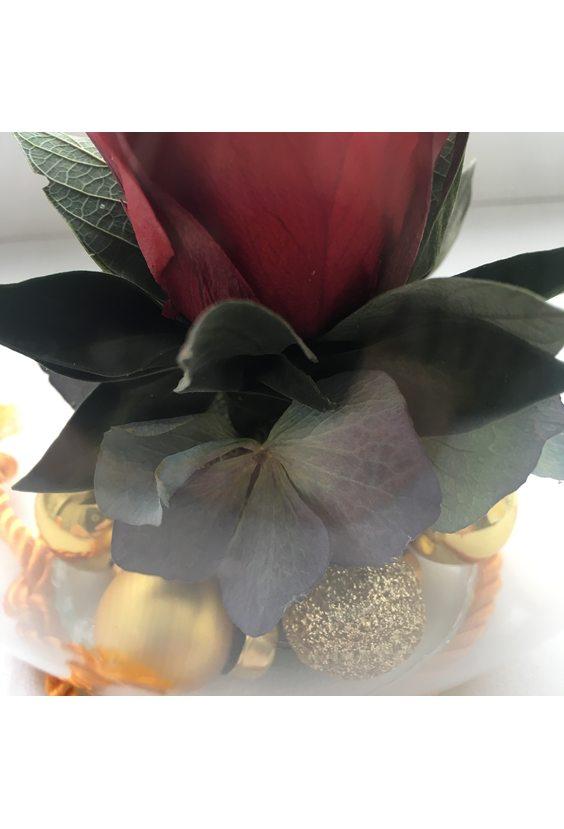 Подсвечник «Дом вверх дном» (стаб. цветы)