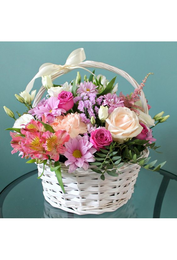 "Корзина с цветами ""Летний день"""