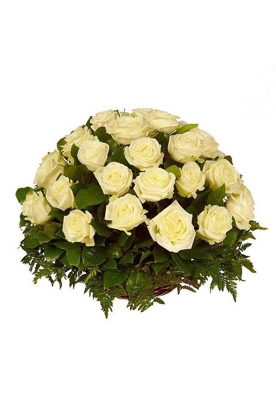 Букет № 47, 25 роз в корзине
