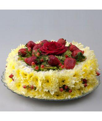 """торт """"Клубника в меду"""""""