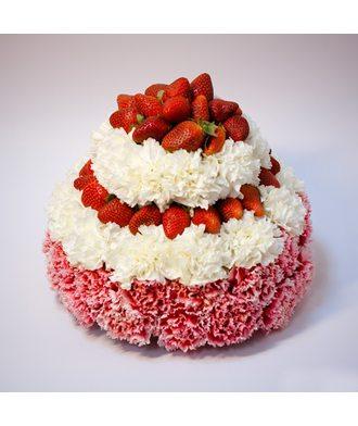 """торт """"Клубника с кремом"""""""