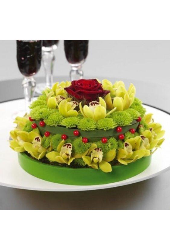 торт с Охидеями
