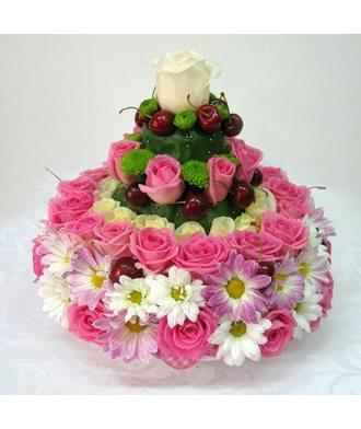 """торт  """"Розовый крем"""""""