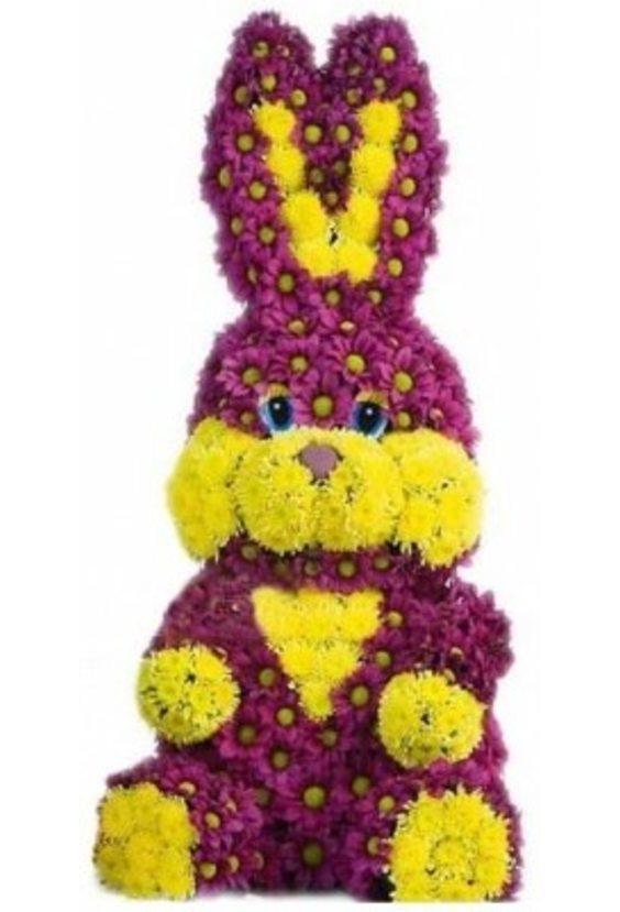 Зайчишка из цветов