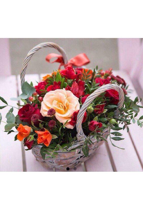 """Корзинка с цветами """" Милая"""""""