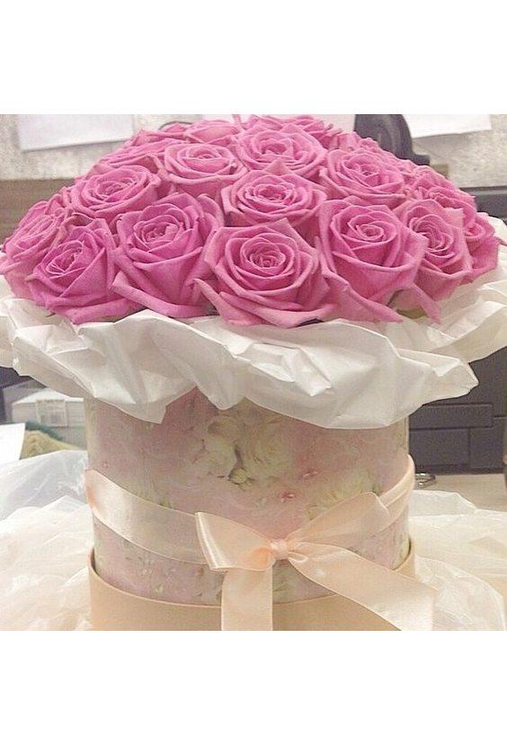 Букет 35 роз в коробке
