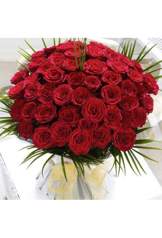 Букет 51 роза по 70 см
